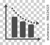 negative trend vector pictogram.... | Shutterstock .eps vector #586124225