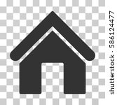 home vector pictograph.... | Shutterstock .eps vector #586124477