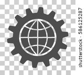 global options vector pictogram.... | Shutterstock .eps vector #586125287