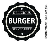 delicious burger served here... | Shutterstock .eps vector #586125551