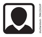 man user icon   person profile... | Shutterstock .eps vector #586126169