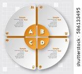 vector abstract 3d paper... | Shutterstock .eps vector #586133495