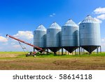 Steel Grain Silos Used To Store ...