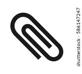 paper clip icon on a white... | Shutterstock .eps vector #586147247