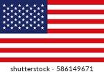american flag | Shutterstock .eps vector #586149671