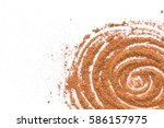 chocolate powder isolated on... | Shutterstock . vector #586157975