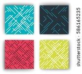 geometry  pattern  | Shutterstock .eps vector #586165235