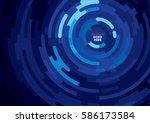 vector of abstract circular...