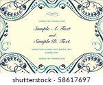 vector floral frame with sample ...   Shutterstock .eps vector #58617697