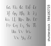 handwritten calligraphy ink...   Shutterstock .eps vector #586182725