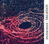 space vortex vector background. ... | Shutterstock .eps vector #586185635