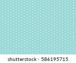 polka dot pattern vector.... | Shutterstock .eps vector #586195715