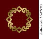 sacred geometric symbol of... | Shutterstock .eps vector #586197995