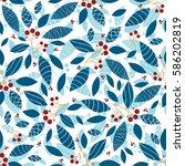 vector endless seamless pattern.... | Shutterstock .eps vector #586202819
