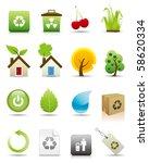 environmental conservation icons | Shutterstock . vector #58620334