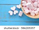 Pink Heart Shape Marshmallow O...