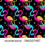 vivid tropical  exotic hawaiian ... | Shutterstock .eps vector #586207487