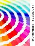 color palette guide. sample... | Shutterstock . vector #586207757