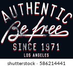 hand drawn vintage typography... | Shutterstock .eps vector #586214441