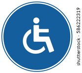 wctoilet disabled accessible... | Shutterstock .eps vector #586222319