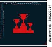 sporting trophies or winners...   Shutterstock .eps vector #586223219