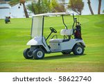 Electric Golf Buggy Parked On...