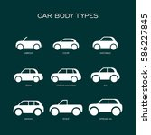 car body type vector flat style ... | Shutterstock .eps vector #586227845