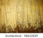 Yellow Painted Weathered Wood...