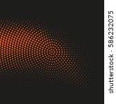vector halftone dots. abstract... | Shutterstock .eps vector #586232075