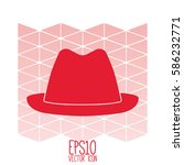 hat vector illustration. flat... | Shutterstock .eps vector #586232771