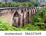 the nine arches bridge demodara ... | Shutterstock . vector #586237649