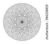 floral mandala  vector... | Shutterstock .eps vector #586238855
