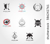 archery logo design template.... | Shutterstock .eps vector #586242761