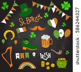 st. patrick's day holiday... | Shutterstock .eps vector #586244327