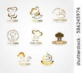 chef logo design template.... | Shutterstock .eps vector #586245974