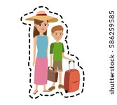 tourist travel icon image  | Shutterstock .eps vector #586259585