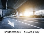 view of a high speed viaduct | Shutterstock . vector #586261439