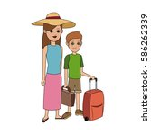 tourist travel icon image  | Shutterstock .eps vector #586262339