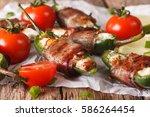 spicy appetizer  jalapeno...   Shutterstock . vector #586264454