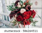 the bride's bouquet | Shutterstock . vector #586264511
