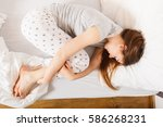 exhaustion relax dreaming sleep ... | Shutterstock . vector #586268231