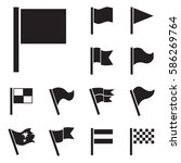 flag vector icon set isolated... | Shutterstock .eps vector #586269764