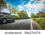 Car On Asphalt Road On Summer...