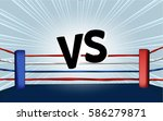 vector of boxing ring corner... | Shutterstock .eps vector #586279871