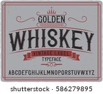 vintage label typeface named ... | Shutterstock .eps vector #586279895
