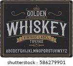 vintage label typeface named ... | Shutterstock .eps vector #586279901
