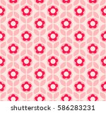 seamless retro pattern with... | Shutterstock .eps vector #586283231