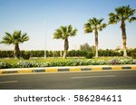 view of a marking of the road... | Shutterstock . vector #586284611