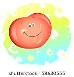 heart smiling | Shutterstock .eps vector #58630555