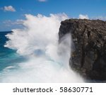 Powerful Crashing Waves Against ...